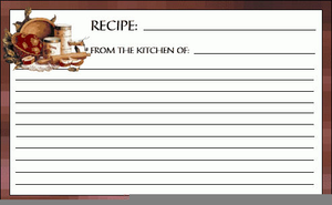 Free Clipart Recipe Card.