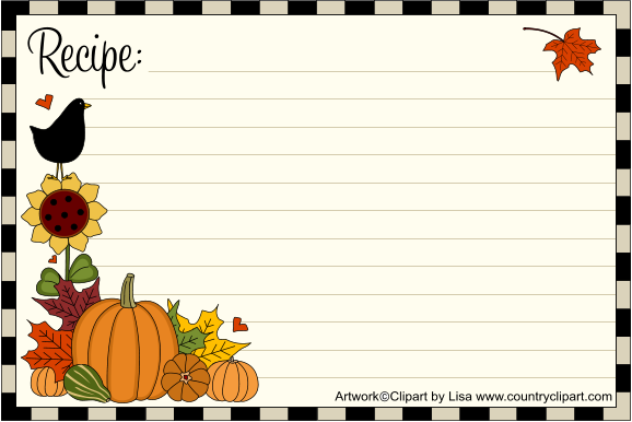 Free Printable Recipe Cards.