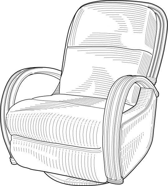 Recliner Chair clip art Free vector in Open office drawing svg.
