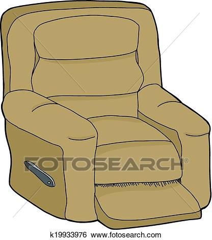 Isolated Recliner Clip Art.