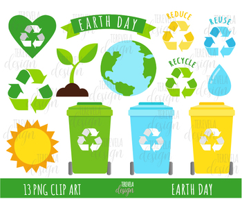 Recycling Clip Art & Worksheets.