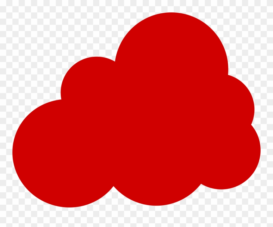 Clipart Red Cloud Clip Art Clouds With Sun Rays Clip.