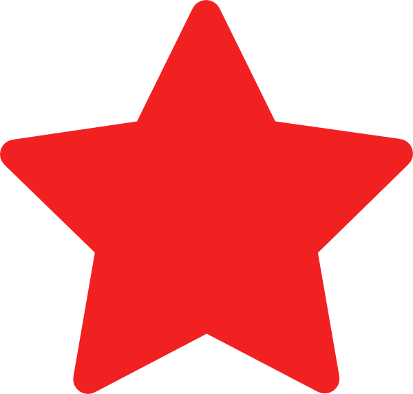 97+ Red Star Clip Art.