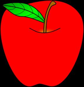 Red Apple Clip Art at Clker.com.