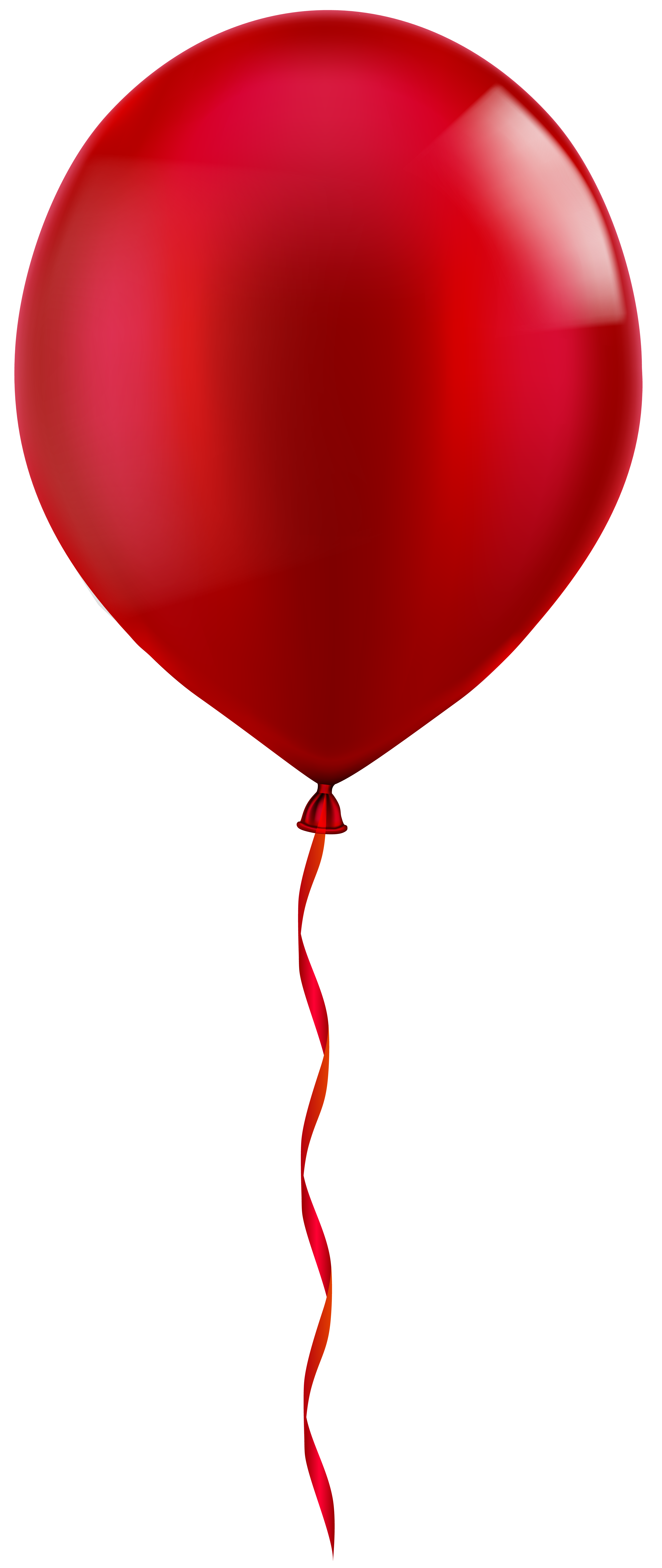 Single Red Balloon PNG Clip Art Image.