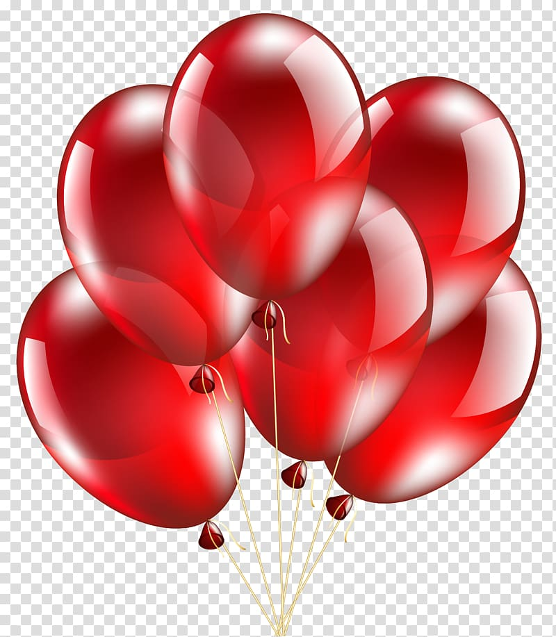 Balloon Birthday Frames , Red Balloon transparent background PNG.