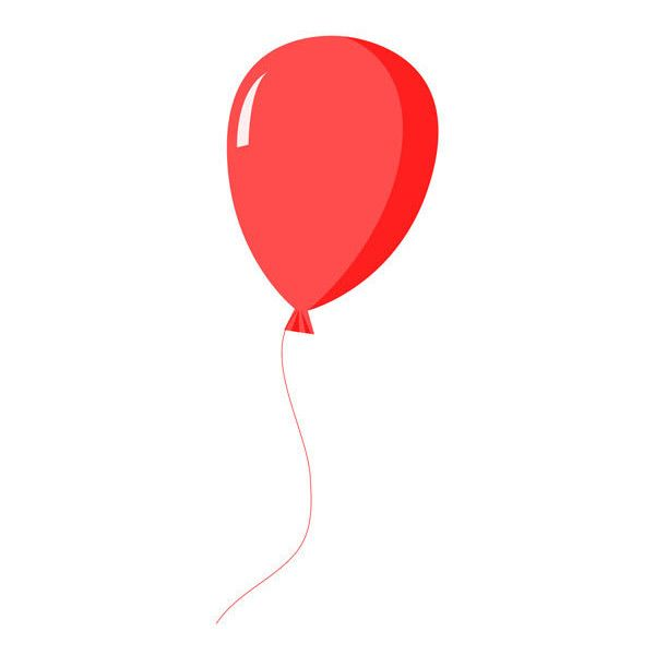 Red Balloon Clipart via Polyvore featuring balloons.