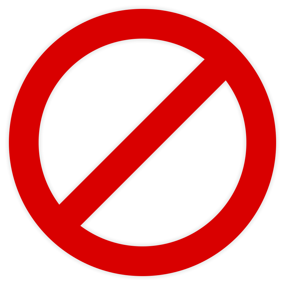 No symbol Slash Clip art.