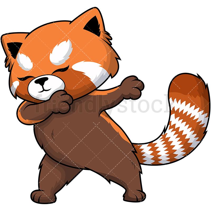Dabbing Red Panda.