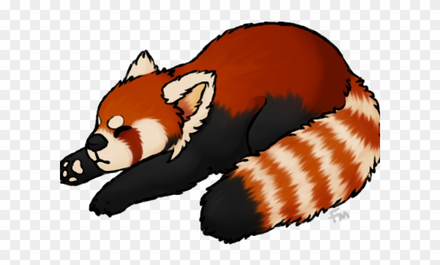 Red Panda Clipart Transparent Background.