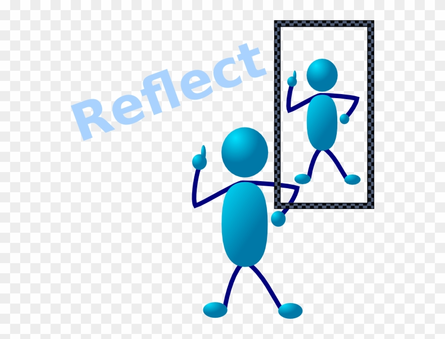 Reflection Thinking Clipart.
