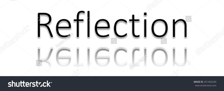 Reflection Word Clip Art Stock Illustration 451402540.