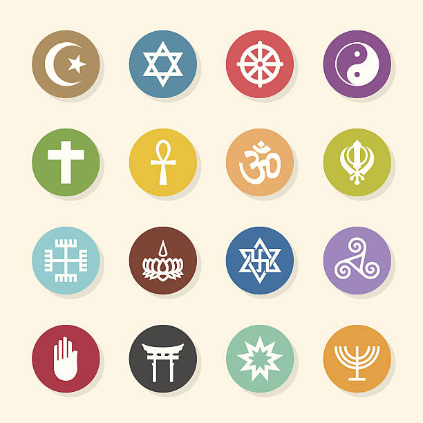 Best Religious Symbols Illustrations, Royalty.