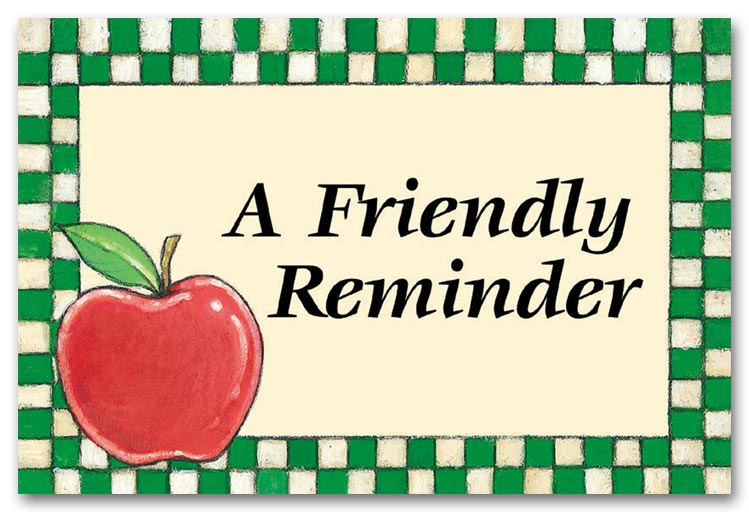 Friendly Reminder Clipart.