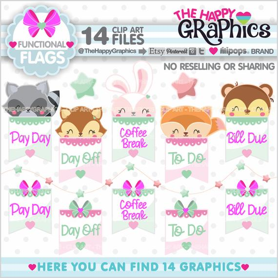 Functional Clipart, Functional Graphic, COMMERCIAL USE, Flag Clipart.