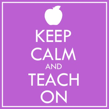 FREE Keep Calm and Teach On Clip Art! We all need this right now.