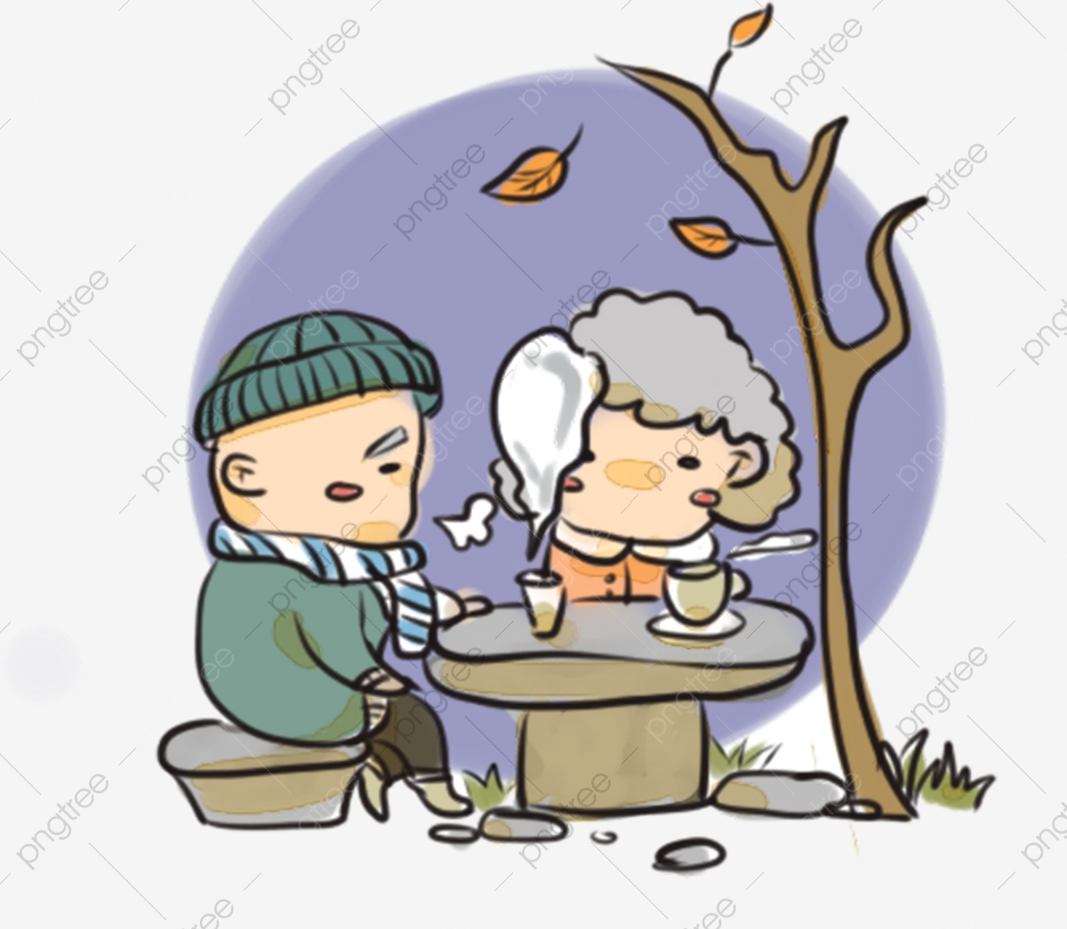 Honor Elders Old Man, Man Clipart, Respect Parents, Warm Family PNG.