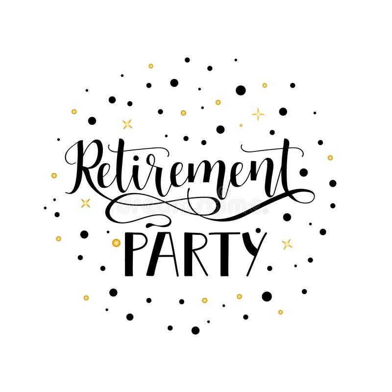 Retirement Party Stock Illustrations.