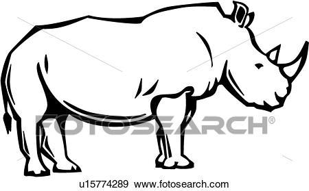 Rhino Clip Art.