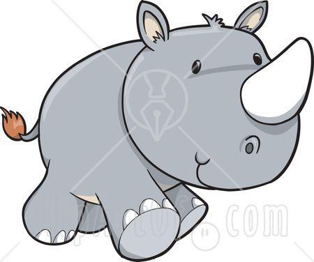 baby rhino clipart.