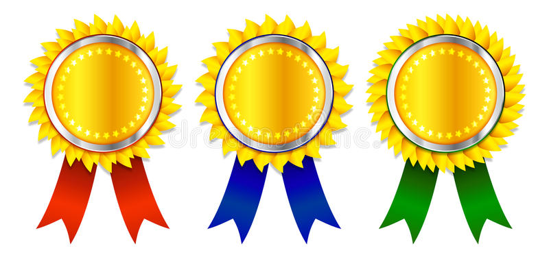 Award Ribbons Stock Illustrations.
