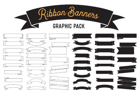 Ribbon Banner Clipart Vector Design Pack.