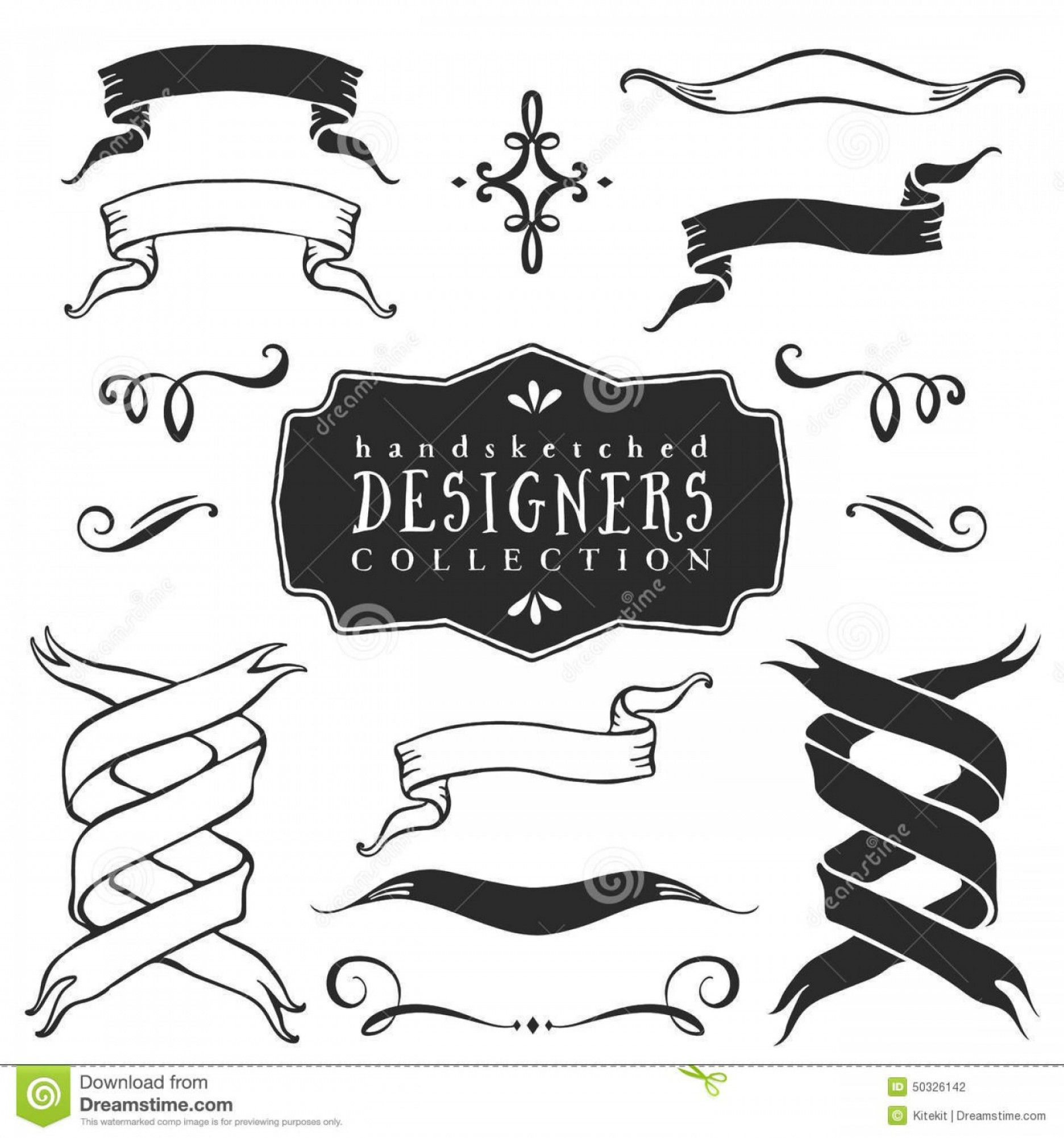 Ribbon Banner Vector Printable Vintage.