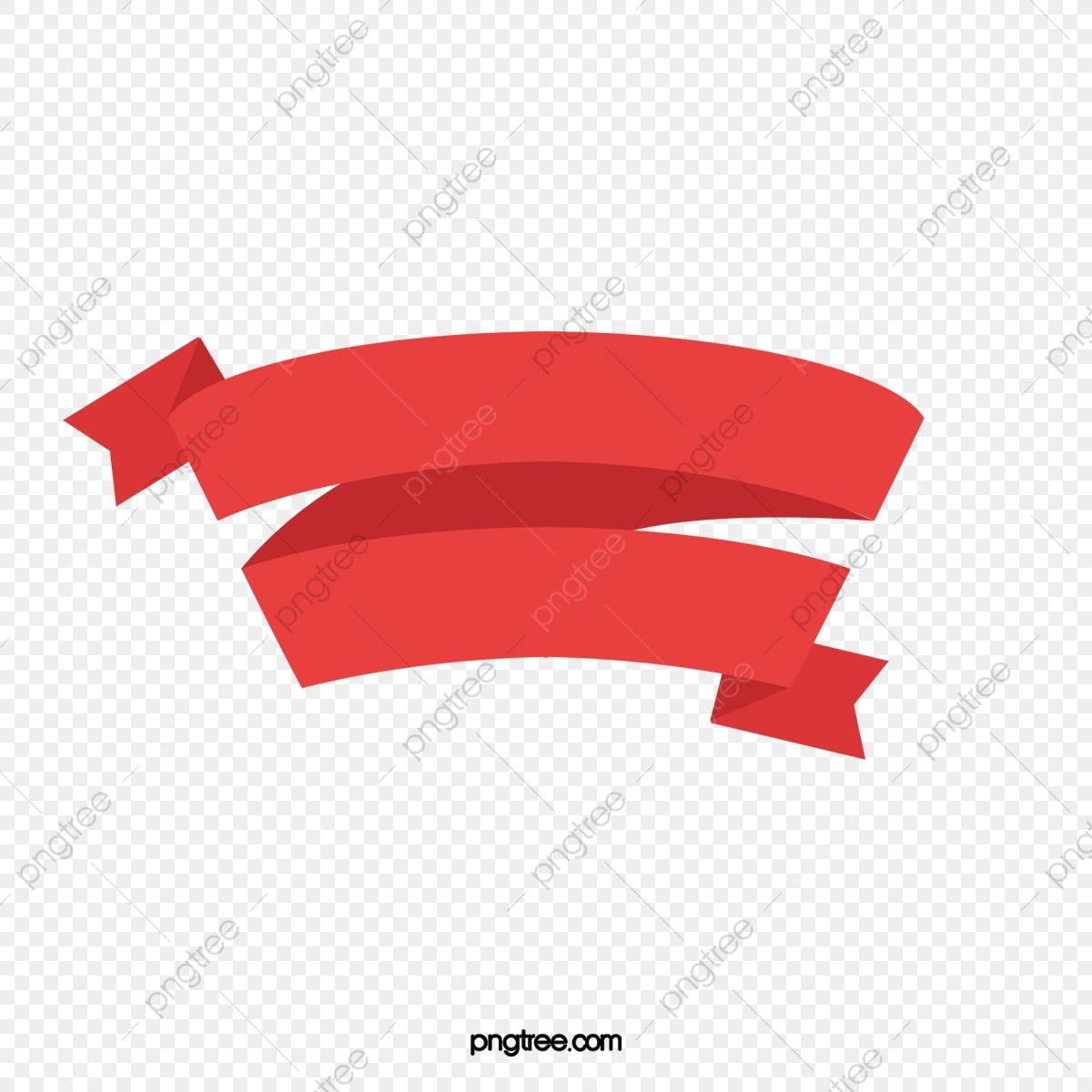 Cartoon Red Ribbon Png Material Frame, Cartoon Clipart, Ribbon.