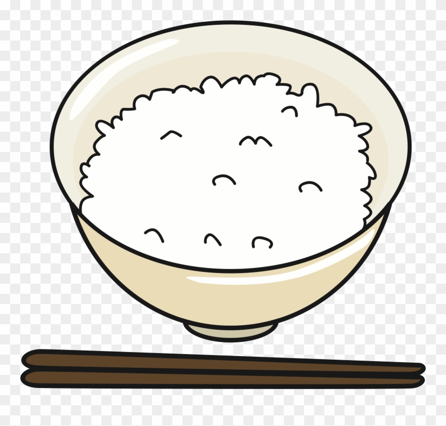 Clipart Of Rice, Big Bowl And Bowl Rice.