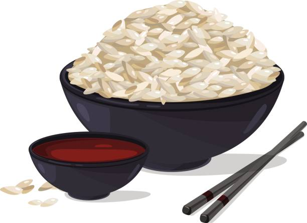 Best Rice Bowl Illustrations, Royalty.