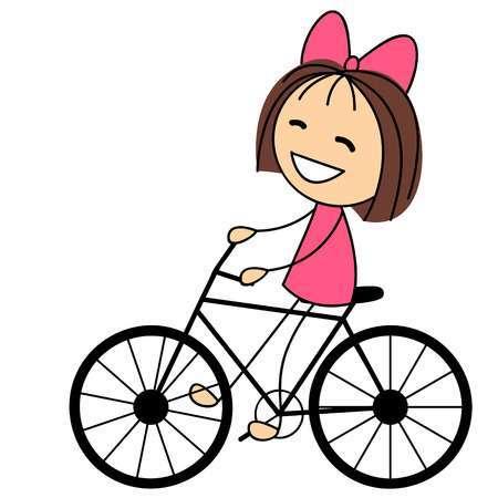 Girl riding bike clipart » Clipart Portal.