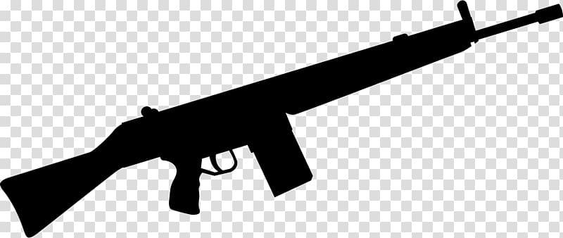 Silhouette of rifle , Machine gun Firearm Weapon Rifle , Cartoon Gun.