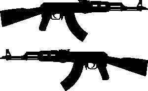 Ak Rifle Silhouette clip art.