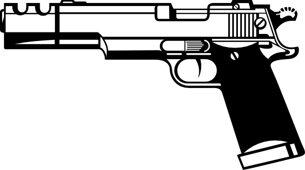 R D Gun clip art Free vector in Open office drawing svg ( .svg.