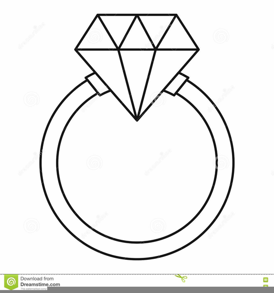 Diamond Ring Clipart Black And White.