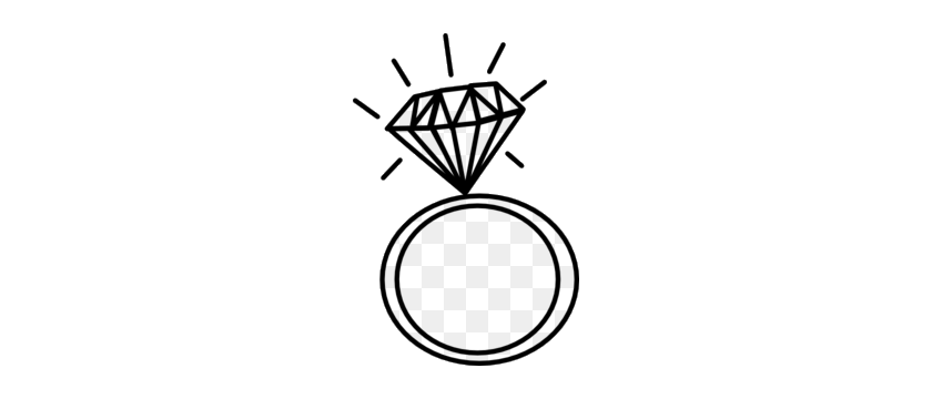 Diamond Ring Clipart Clip Art Images Black And White Png.