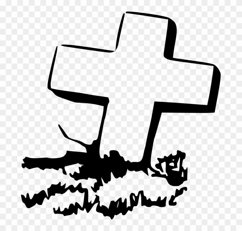 Gravestone Clipart Rip Cross.