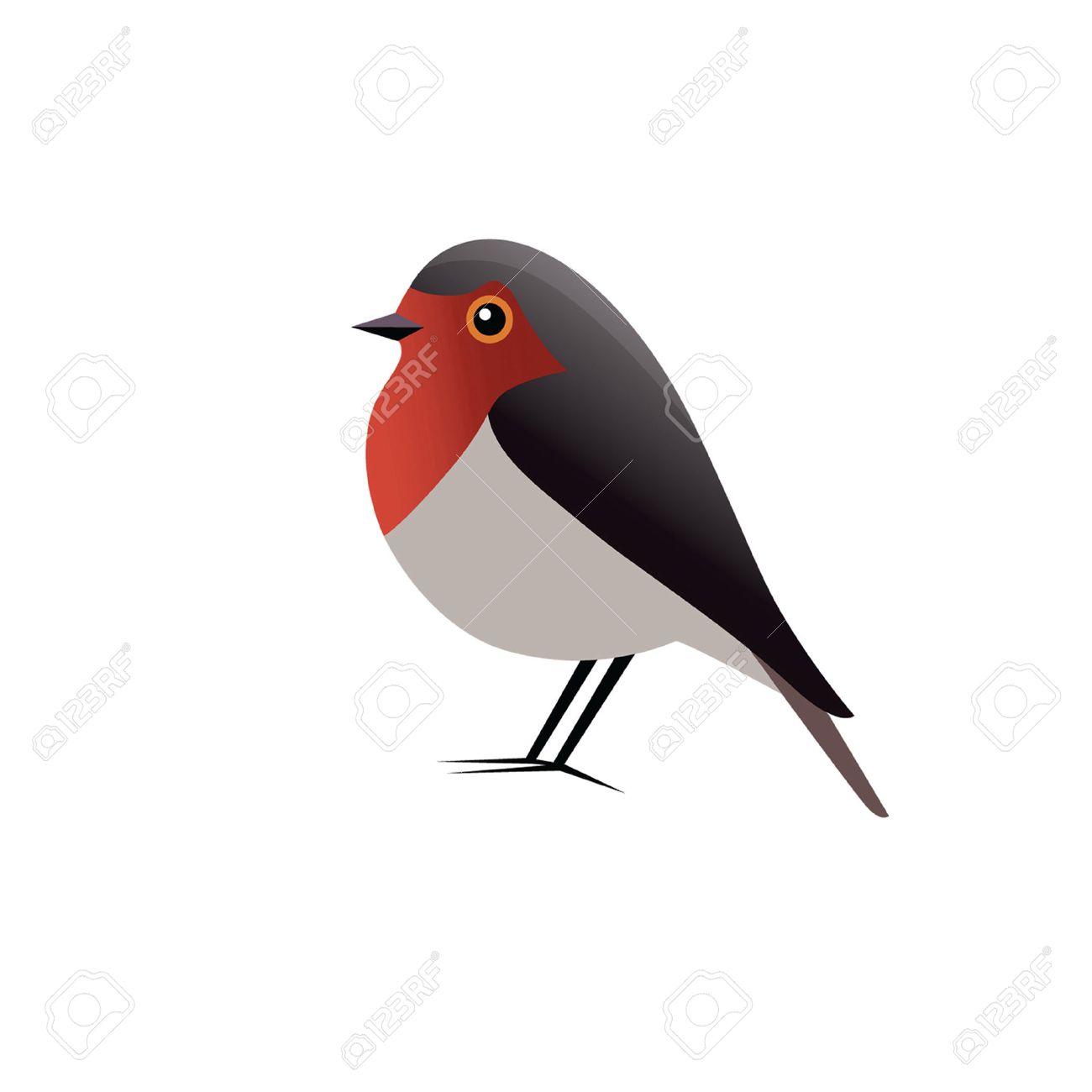 Robin Bird Vector Clipart.