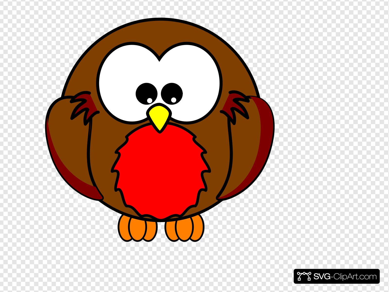 Robin Looking Down Cartoon Clip art, Icon and SVG.