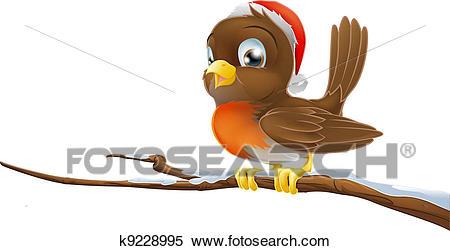 Christmas Robin Clipart.