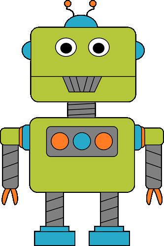 Robot for Letter R Clip Art.