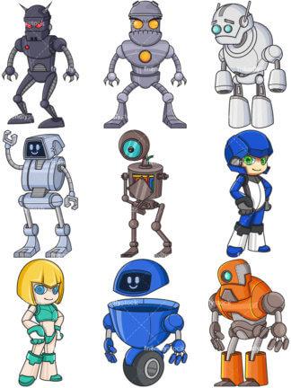 Blue Robot.