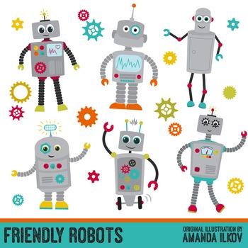 Premium Robots & Gears Clip Art with Vectors.