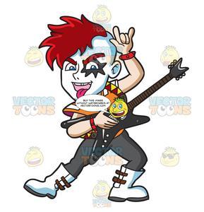 A Glam Rock Guitarist.