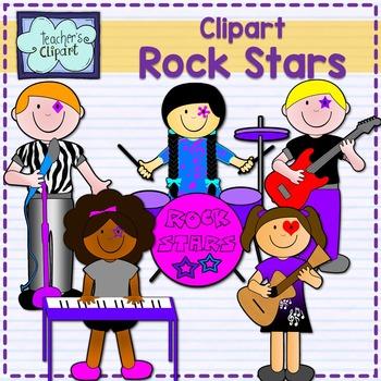 Rock Stars Band {papers, borders and clipart}.