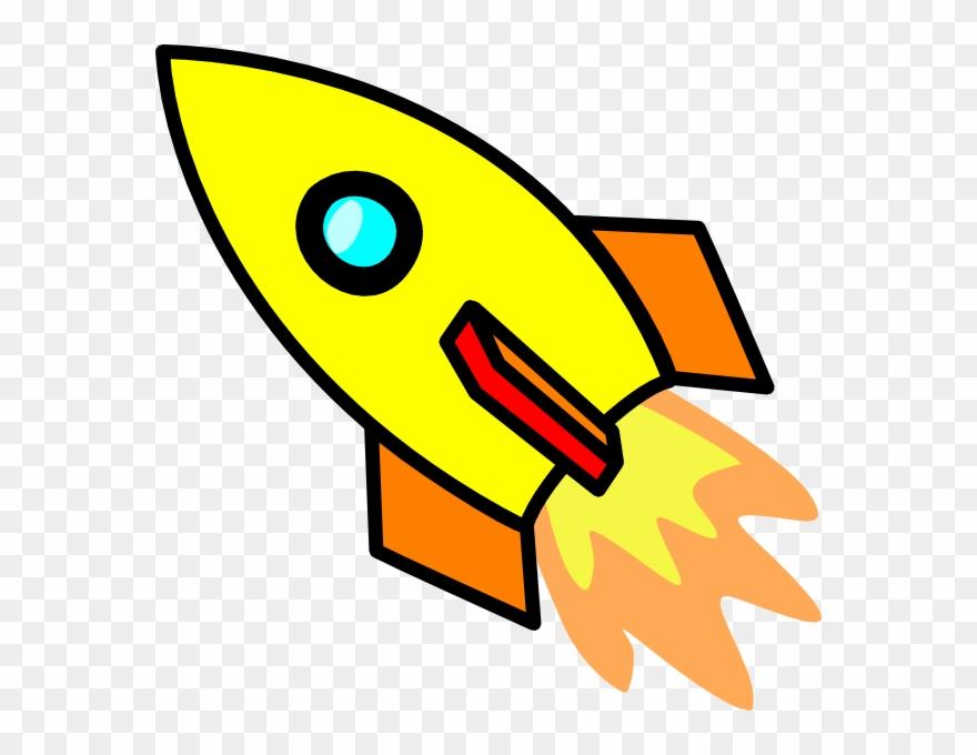 Cartoon Rocket Ship Clipart.