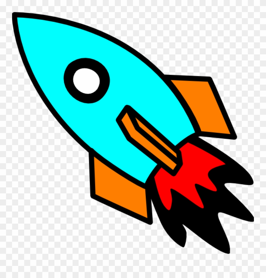 Moving Clipart Rocket.