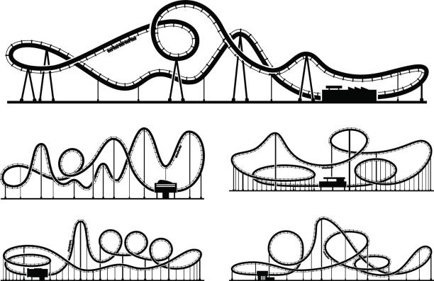 Best Roller Coaster Illustrations, Royalty.