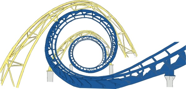 Roller Coaster Tracks clip art Free vector in Open office drawing.