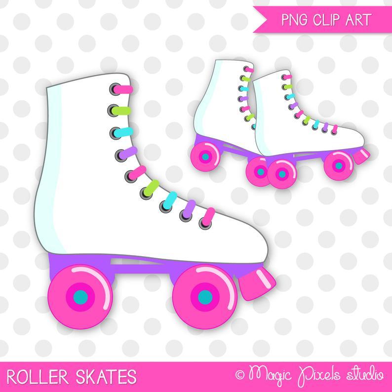 Roller skates clipart, Roller skating clip art, Skating clipart, Skates  clipart, Roller skating birthday, Commercial Use, INSTANT DOWNLOAD.